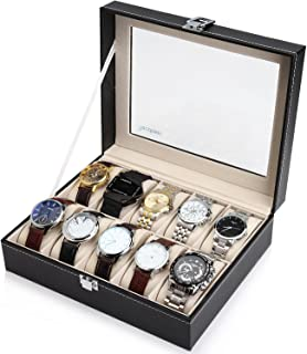 Readaeer 10 Watch Box Case Organizer for Men & Women