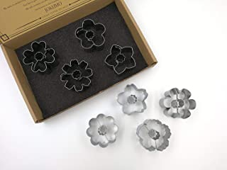 JOKUMO Flower Blossom Cookie Cutters Set – 8 PC High Grade 430 Stainless Steel – A Truly Unique set for Flower Lovers