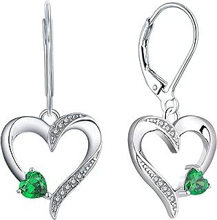 Best heart earrings drop Reviews