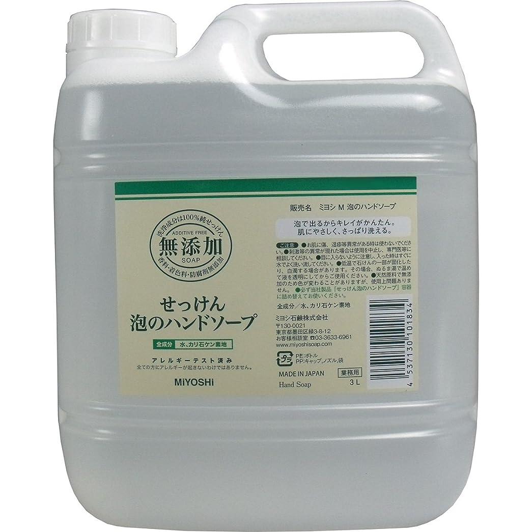 完全に乾く呪いアメリカ無添加せっけん 泡のハンドソープ 詰替用 (業務用) 3L