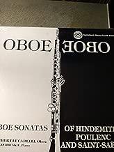 HINDEMITH Sonata for oboe and piano - POULENC Sonata for oboe and piano - SAINT-SAENS Sonata for oboe and piano-