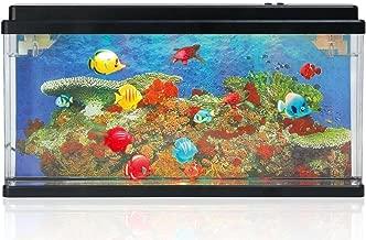 Lightahead Artificial Marine Aquarium Swimming Fish Tank with Bubbles and Multi Colored LED Big Size
