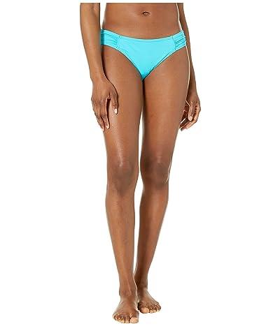 Tommy Bahama Pearl Side-Shirred Hipster Bikini Bottom (Aqua Cerulean) Women