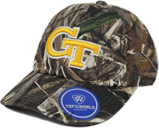Top of the World Georgia Tech Yellowjackets NCAA Tow Crew Max Realtree Camo Adjustable Hat
