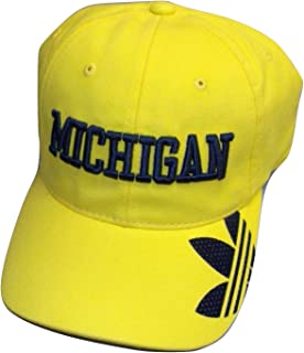 adidas Michigan Wolverines Slope Slouch Flex Hat - Size L/XL - EZG62
