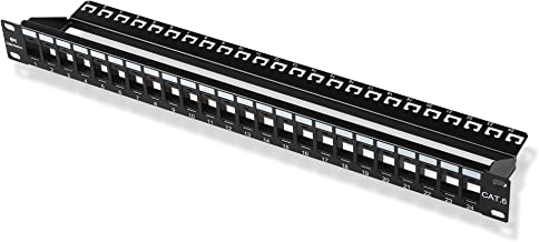 Cable Matters Rack or Wall Mount 24-Port Cat6, Cat 6 Keystone Patch Panel (Blank Patch Panel)