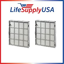LifeSupplyUSA Complete Cassette Replacement Cartridge Filter Sets (2) Compatible with Kenmore EnviroSense Air Cleaner Model 85500, Part # 85510