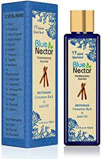 Blue Nectar Ayurvedic Pain Relief oil for Body, Back, Knee, Legs, Shoulder and Muscle pain with Cinnamon and Clove ( 17 He...