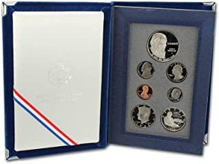 1993 S US Mint 7-piece Prestige Proof Set with James Madison Bill of Rights Silver $1 and Silver 50c PR OGP