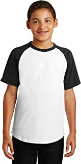 Sport Tek?YT201 Youth Short Sleeve Colorblock Raglan Jersey