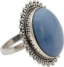 NOVICA Blue Opal .925 Sterling Silver Oval Cocktail Ring, Blue Promise'