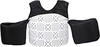 Little Fin Swimmer Float Vest for Pool, White, Black, Mudcloth Aqua Kids Life Jacket from 30 to 50lbs, Toddler Swim Vest with Arm Wings Boys Kai Swimmer