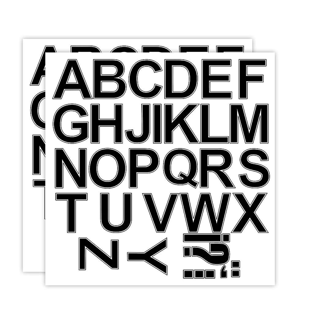 RUSPEPA 3 Inch Letter Transfers for Sport T-Shirt,Black(2 Sheet)