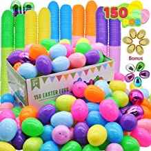 """150 Pieces 2 ⅜"""" Easter Eggs Include 6 Golden Eggs and 10 Metallic Shining Eggs for Filling Specific Treats, Easter Theme Party Favor, Easter Eggs Hunt, Basket Stuffers Filler, Classroom Prize"""