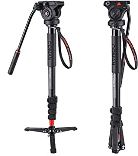 Dual Optional Head Professional Heavy Duty 72 Monopod//Unipod for Canon PowerShot SX60 HS