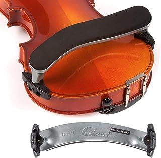 Everest 3/4-1/2 Violin ES Silver Shoulder Rest