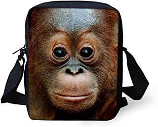HUGS IDEA Animal Horse Pattern Women Cross Body Shoulder Bag for School Travel