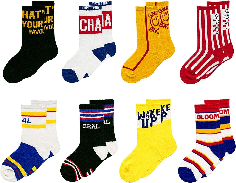 Mini Panda Socks For Boys/Girls Kids Socks 4-6 Years/6-8 Years /10-12 Years 8 Pairs Pack