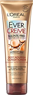 L'OrÃal Paris EverCreme Deep Nourish Sulfate Free Conditioner, with Apricot Oil, 8.5 Fl Oz (Pack of 1)