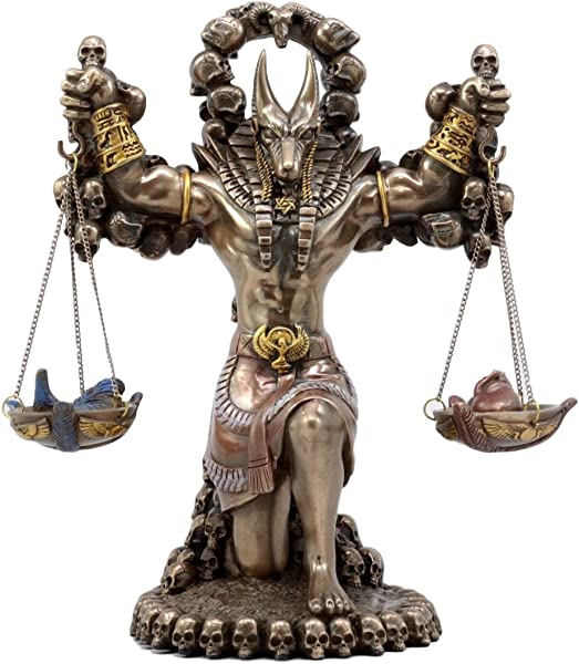 Ancient Egyptian God Of Underworld Anubis Guardian Of Scales Figurine 8 5 Inches BRONZE
