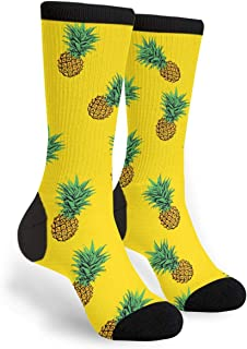 Delicious Yellow Pineapple Novelty Socks For Women & Men One Size - Gifts