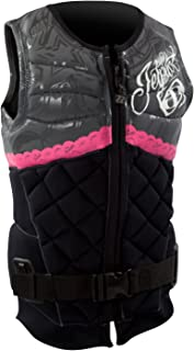 Lady Luck Comp Vest Black Womens XS PFD Non-CGA Waterski Wakeboard Life Jacket