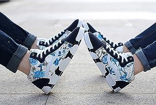 2015秋冬 メンズ レディース 男 女 ハイカット ドライビングシューズ スリッポン デッキシューズ  靴  アウトドア カジュアル 通気 オシャレ ブーツタイプ ブーツ カップル ブルー 男女兼用 syuzu-87 (24.5cm)