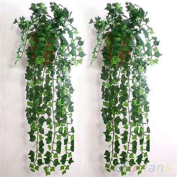 Decorazione da Parete per Interni ed Esterni per Proteggere la Privacy Siepe Artificiale con Foglie di edera 60 x 40 cm Exuberanter