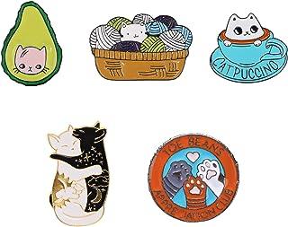 SteamedBun Cat Enamel Pin Set Cute Lapel Pins for Backpacks