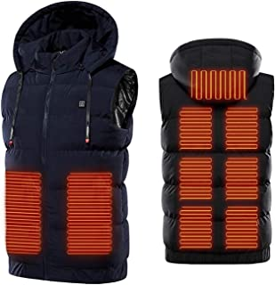 Warming Heated Vest,Electric Heated Vest with 3 Temperature 9 Heating Zones Heat Jacket for Outdoor Camping Skiing Hiking ...