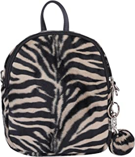 Antin Women's Faux Leather Casual 2 in 1 Backpack Cum Sling Bag (Black/White)