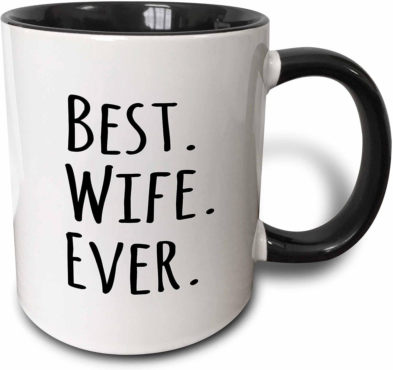 3drose Best Wife Ever Mug 11 Oz Black Kitchen Dining