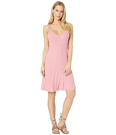 Roxy People Craziness Ribbed Dress (Brandied Apricot) Women