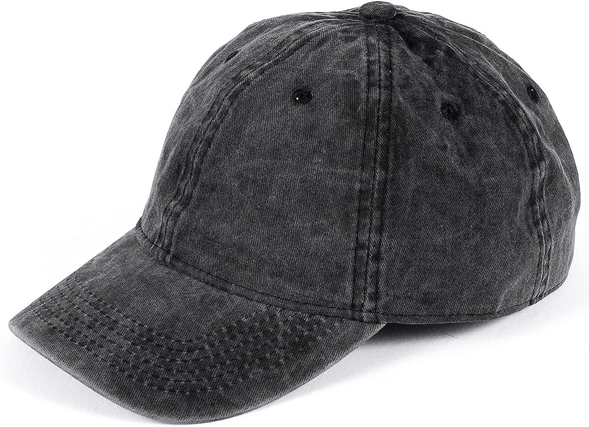Baseball Cap for Men Women Vintage Washed Distressed Baseball Hat Unisex Sports Cap Khaki