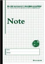 目に優しいノート【B5判 5mm方眼 紙色 グリーン】30枚 水平開き(ナカプリバイン)
