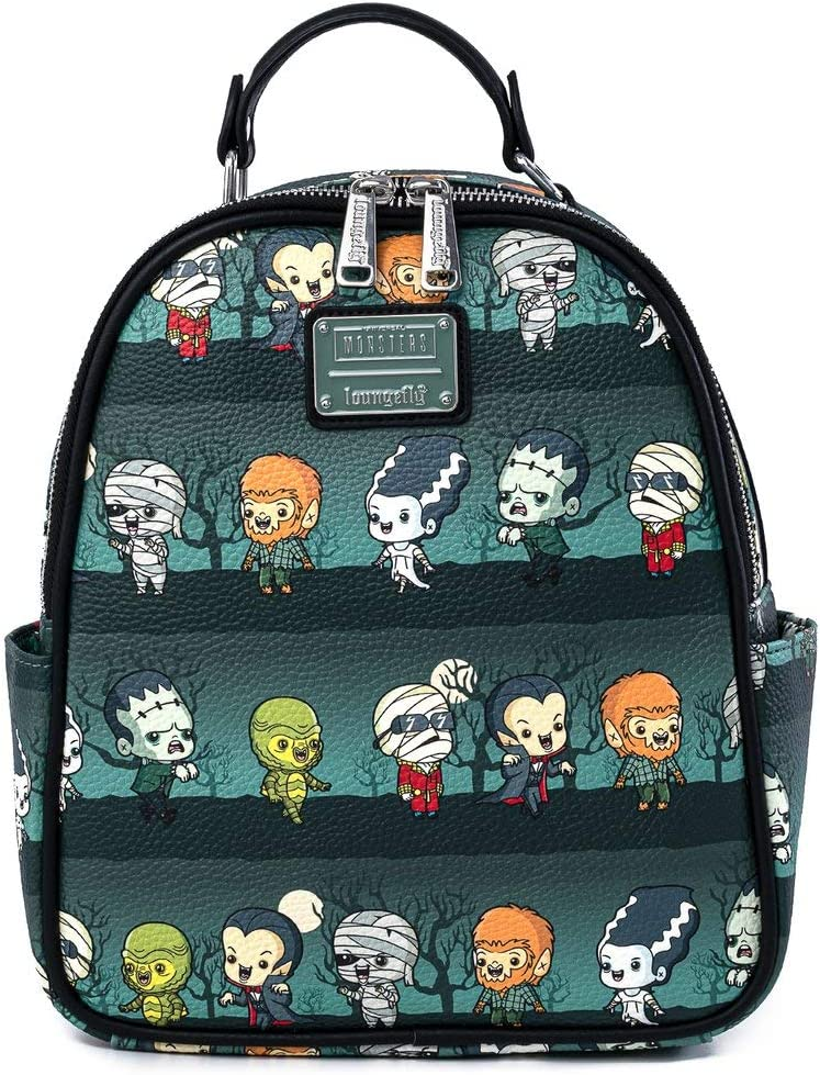 Loungefly Universal Monsters Chibi All Over OFFicial mail order Womens Print High quality new Double