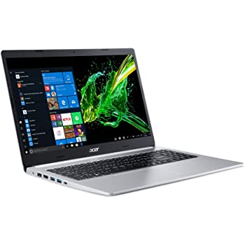 """Acer Aspire 5 Slim Laptop, 15.6"""" Full HD IPS Display, 10th Gen Intel Core i3-10110U, 4GB DDR4, 128GB PCIe NVMe SSD, Intel Wi-Fi 6 AX201 802.11ax, Backlit KB, Windows 10 in S mode, A515-54-37U3,Black"""