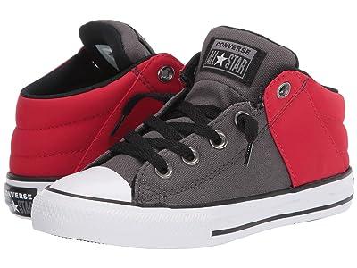 Converse Kids Chuck Taylor(r) All Star(r) Axel Mid (Little Kid/Big Kid) (Carbon Grey/Enamel Red) Boy