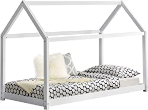 [en.casa]®] Cama para niños de Madera Pino 206x98x142cm Cama Infantil Forma de casa Blanco Mate