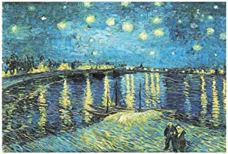CHengQiSM Jigsaw Puzzle 2000 Piece for Adults Jigsaw Puzzles of Starry Night Over The Rhone River by Van Gogh 27.56 x 39.3...
