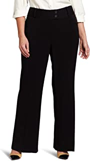 Rafaella Women's Plus-Size Curvy-Fit Gabardine Bootcut Trouser, Black, 18W