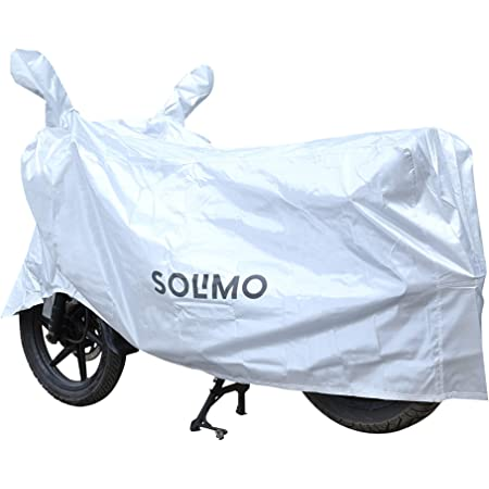 Amazon Brand - Solimo UV Protection & Dustproof Bike Cover (Silver)