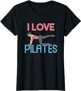 Womens I Love Pilates T-Shirt | Fitness Fan Gift Idea