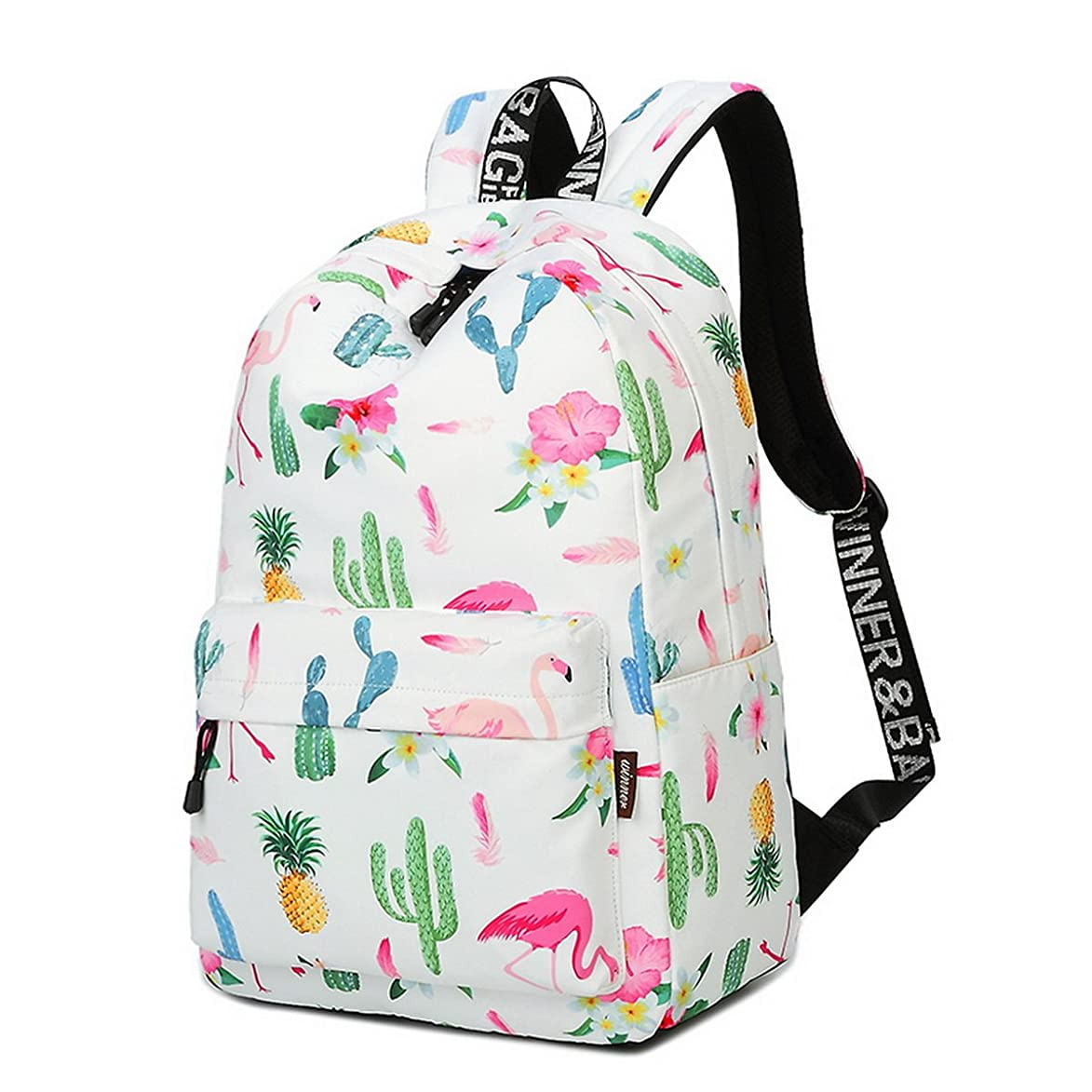 Acmebon Girls Fashion Printed Pattern Backpack Casual Student Backpack Fit 15.6