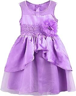 Áo quần dành cho bé gái – Girls Dress Kids Ruffles Lace Costume Pageant Princess Party Wedding Tutu Dress