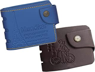 Poland Branded Stylish Pu Wallet for Men and Boys. (Blue & Black)