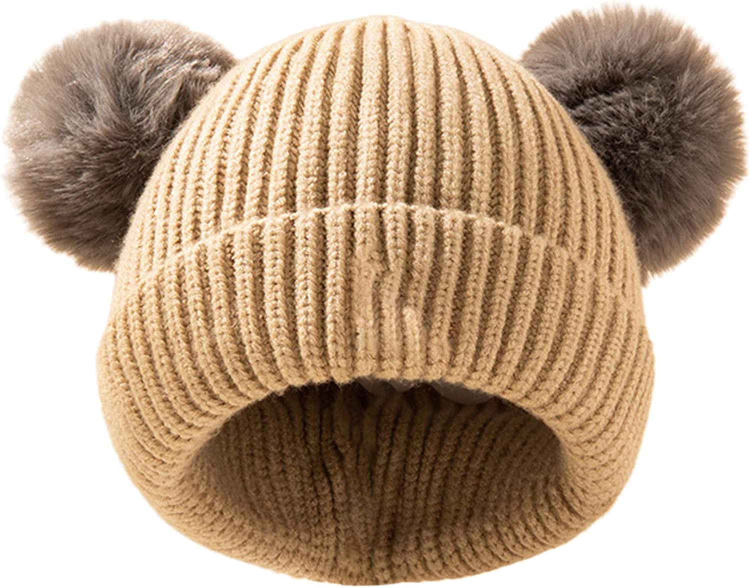yanbirdfx Baby Beanie Toddler Winter W Oakland Mall Selling and selling Pompoms Double Soft