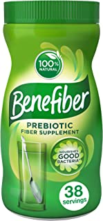 Benefiber Daily Prebiotic Dietary Fiber Supplement Powder for Digestive Health, 100% Natural, Clear and Taste-Free, 38 ser...