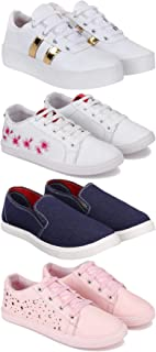 Bersache Combo Pack of 4, Casual, Sneakers, Loafers Shoe for Women