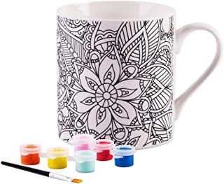 Paint Your Own Mug- White 8 Oz Porcelain Mug (Bohemian)